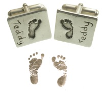 Baby footprint cufflinks