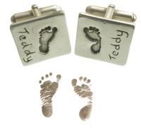 Baby footprint cufflinks