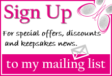 Sign Up to my mailing list for fingerprint jewellery news and offers.