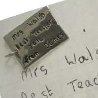 Large handwriting Message Charm