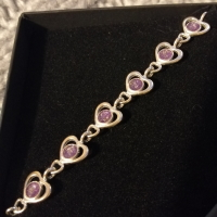 Ashes in hearts memory bracelet