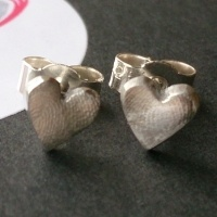 Tiny Fingerprint stud earrings