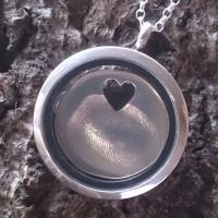 Fingerprint Charm in locket