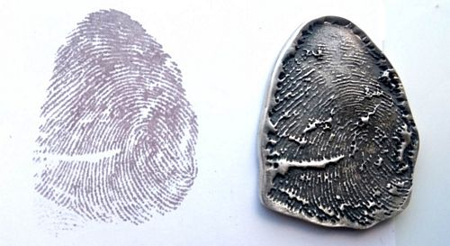 Silver Ink Fingerprint non jewellery keepsake