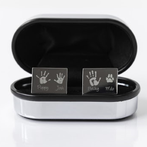Engraved Cufflinks, Up to four children