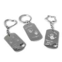 Foot or Handprint Keyring, up to 4 prints