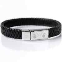 Mens Handprint Bracelet, engraved with up to 4 prints