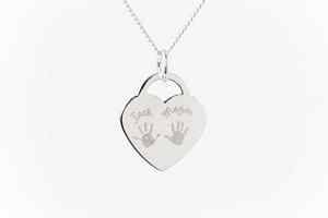 Engraved Heart Charm, two, three or four children