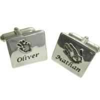 Footprint or Handprint cufflinks
