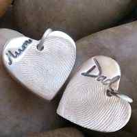 Double sided fingerprint Charm