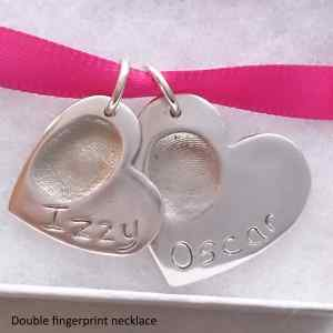 Finished fingerprint jewellery