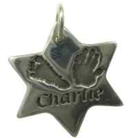 Large Hand and Foot Print Jewellery Charm