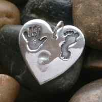 Hand, Foot and fingerprint Jewellery Charm