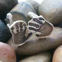 Footprint or Handprint shaped cufflinks