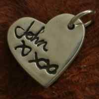 Handwriting Signature Pendant Charm