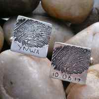 Ink Fingerprint Cufflinks