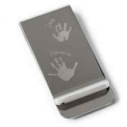 Foot or Handprint Money Clip,  1 or 2 prints