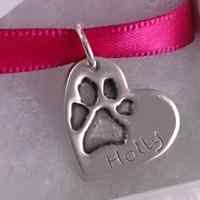 Paw print Jewellery Necklace Charm