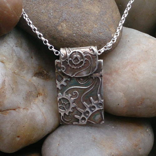 Sterling Silver Steampunk Necklace